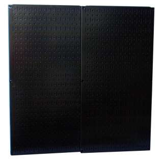 GARAGE WORKSHOP ORGANIZATION BLACK METAL PEGBOARD SET