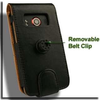 Genuine Leather Flip Case for HTC EVO 4G Pouch Holster