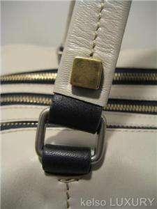 1690 NEW CELINE Grey Leather Boston Satchel Shoulder Bag Handbag