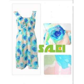 Cute Colorful Flower Elastic Strap Dress for Girls Lady Club Cocktail