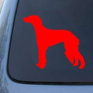 SALUKI SILHOUETTE   Dog   Vinyl Car Decal Sticker #1554  Vinyl Color