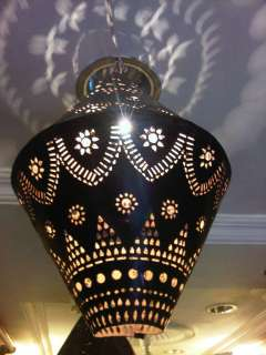Vintage collection beautiful handmade leaer hanging lamp shade home