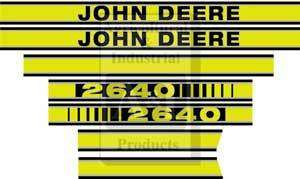 John Deere Tractor Model 2640 Hood Decal Set