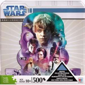 Star Wars 500 Piece Shaped Puzzle in Collectible Tin Toys