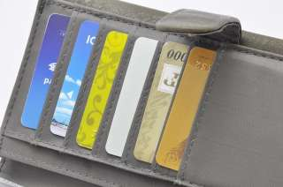 New~ Isadora Womens Green Organizer Bag Clutch Wallet Purse Card Coin
