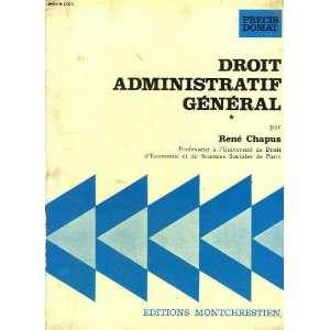 Droit administratif general (Precis Domat) (French Edition