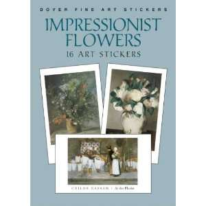 Impressionist Flower Paintings Art Stickers   16 Stickers