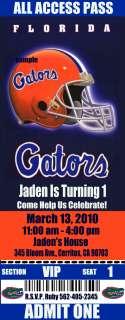 FLORIDA GATORS Birthday Party Invitations  Tickets