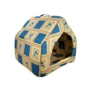 14X14X14 PET HOUSE BLUE CREAM   PET DOG/ CAT HOUSE Toys & Games