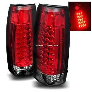 92 99 GMC Yukon LED Tail Lights   Red Clear Automotive