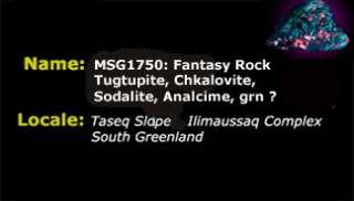 MSG 1750 Huge Fantasy Rock   Tugtupite Chkalovite +++