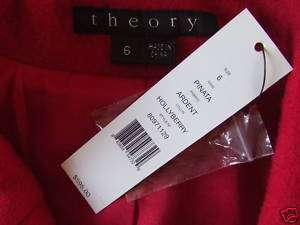 NWT$595 THEORY *PINATA* ARDENT Double Breast Wool Blends Coat Jacket