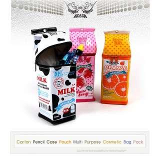 New Carton Pencil Case Pouch Multi Purpose Cosmetic Bag Pack