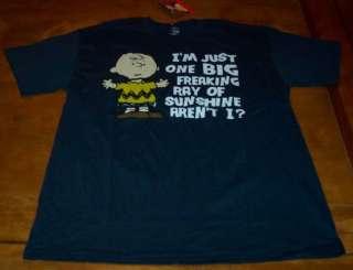 Peanuts CHARLIE BROWN T Shirt MEDIUM NEW w/ TAG