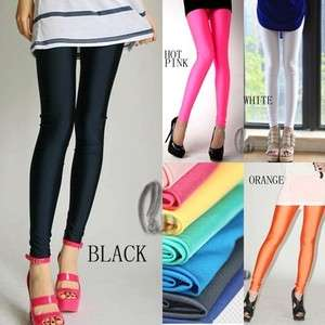 Celebrity Style Neon Shiny Pants Leggings Tights multiple colour(SZ 6
