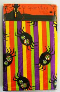 New Vinyl Halloween Spider Tablcloth 52 x 70 Oblong