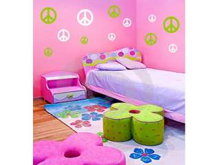 32 PEACE SIGNS Vinyl Wall Decals Stickers Room Decor
