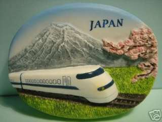 Shinkansen Bullet Train Mt.Fuji Japan Fridge Car Magnet