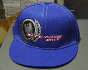 Intense BMX Flex Fit style Cap Hat Blue Adult OSFM
