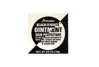 GENUINE BLACK AND WHITE OINTMENT SKIN PROTECTANT 5/8 OZ.