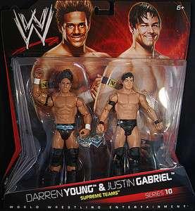JUSTIN GABRIEL DARREN YOUNG WWE 2 PACKS 10 TOY FIGURES