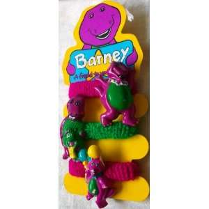 Barney and Bop Set of 3 Girl Hair Pony Tail Holders Toys & Games