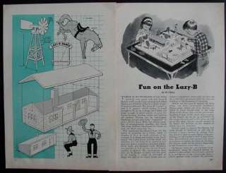 Wooden Toy / Model LAZY B RANCH 1957 How To Build PLANS