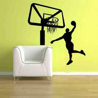 Basketball Player Slam Dunk Wall Sticker Vinyl Decal