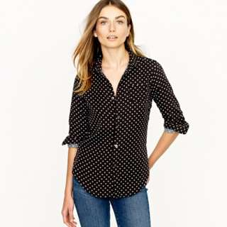 dot shirt   J Crew Collection   Womens shirts & tops   J.Crew