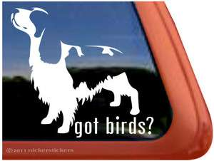 GOT BIRDS? ~ High Quality English Springer Spaniel Dog Window Sticker
