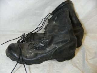 BLACK LEATHER MILITARY LACE UP ARMY COMBAT BOOTS SIZE 12 1/2 N GUC