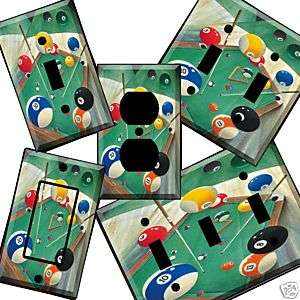 misc db Billiards Light Switch Cover wall plate pool