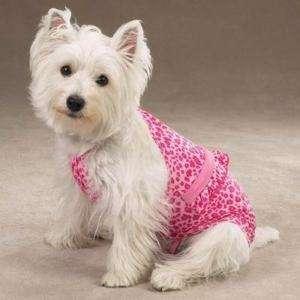Dog Bathing Suit Swimsuit Clothes Pink Leopard 1 Piece