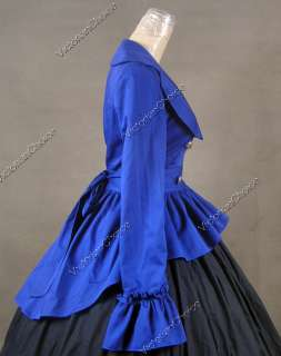 Civil War Victorian Cotton Satin Day Dress Ball Gown C009 L