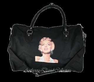 Marilyn Monroe Travel Tote Duffle Bag Handbag   Black