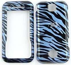 fit Motorola Rival Phone Skin Covers Cases BLUE Zebra