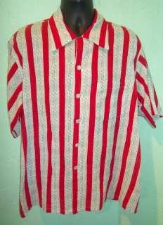 Killer 1940s/50s RP Seersucker Rockabilly Shirt (XL)