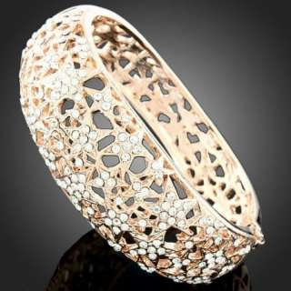 ARINNA stars crystals rose gold GP chic bangle Bracelet
