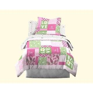 John Deere Bedding Girls Quilt and Sham Set, Twin Size