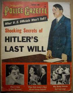 ADOLF HITLER Cover POLICE GAZETTE MAG March 1955