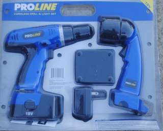 Proline 18 Volt Cordless DRILL and Cordless Light and More