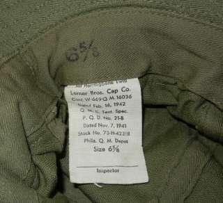 ORIGINAL G.I. DAISY MAE CAP WW2 VINTAGE U.S. ARMY ISSUE HBT TWILL HAT