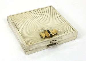 VINTAGE TIFFANY & CO. 18K GOLD & SILVER LADIES COMPACT