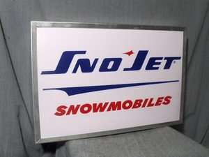 SNOWMOBILE vintage sno jet illuminated SIGN