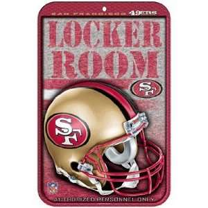 San Francisco 49ers Sign   Locker Room