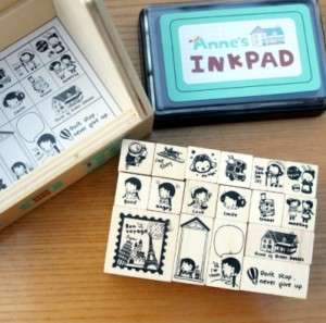 Decorative Stamps Kit Anne of Green Gables w/ Ink pad