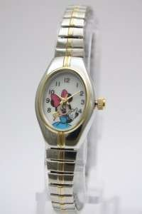 Disney Minnie Mouse Two Tone Stretch Collectible Watch MCK625