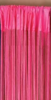 MANY USES DECORATIVE FUCHSIA PINK STRING CURTAIN 44X88