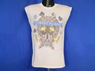 vintage ROBERT PLANT NON STOP GO 1988 TOUR WHITE SLEEVELESS t shirt