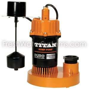 Titan Basement Submersible Sump Pump 1/3 HP   Vertical
